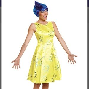 Deluxe Adult Inside Out Costume: Joy